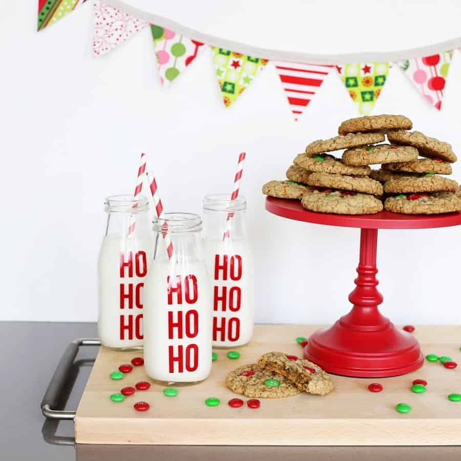 ho ho ho milk jars square