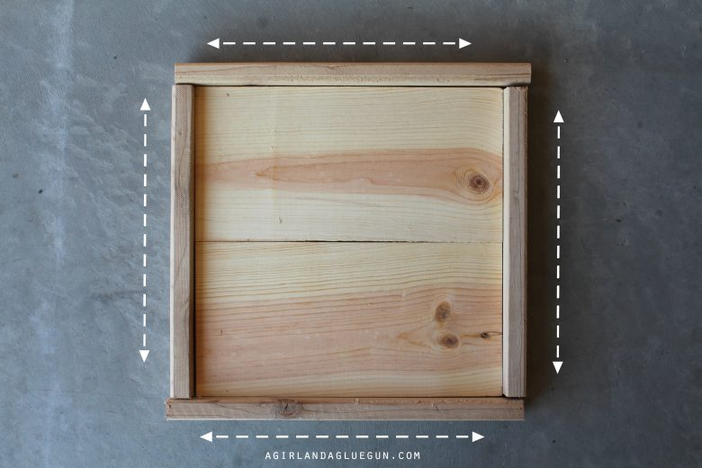 How to make wood frames step by step a girl and a glue gun keep in mind that these frames are meant to be rustic which is why its not all fancy mitered corners some of the wood might not be super straight jeuxipadfo Gallery