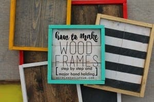 How to make wood frames! Step by Step!