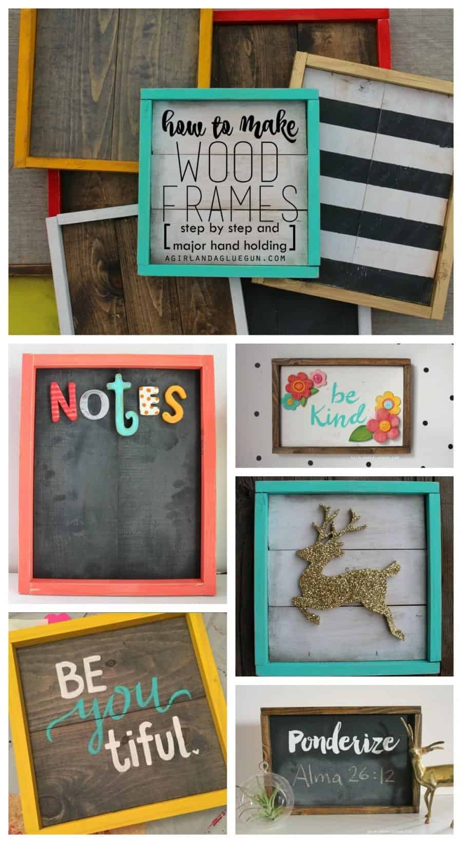 How To Make Wood Frames Step By Step A Girl And A Glue Gun