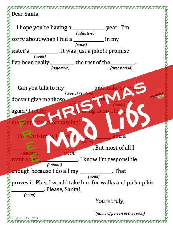 Christmas charades game and free printable roundup a girl and a santa trivia 3509bbec6561a9057159be521de4ef7c more fun mad libs mad libs free spiritdancerdesigns Image collections