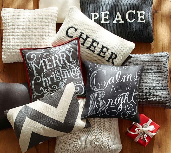 Black And White Christmas A Girl And A Glue Gun