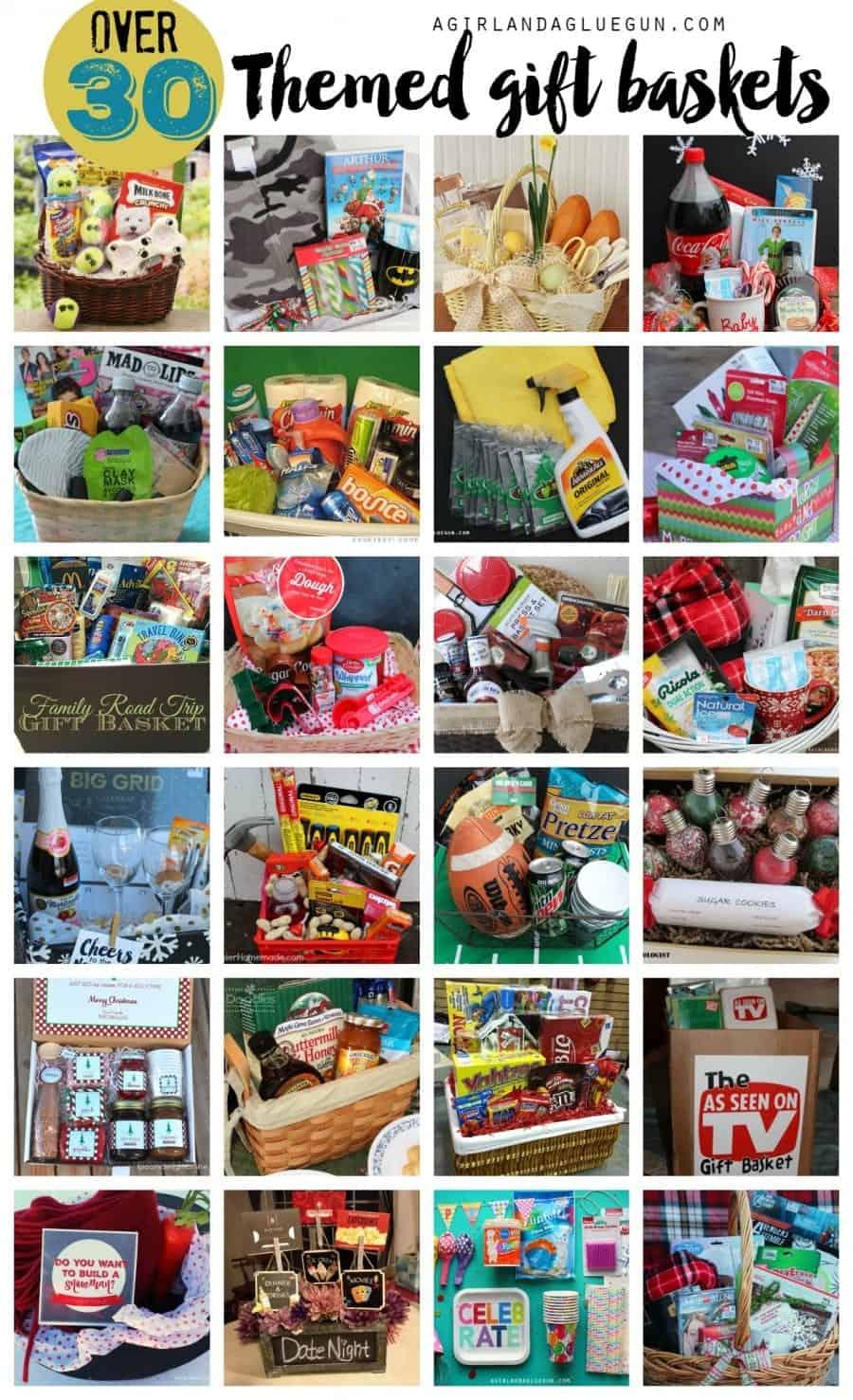 over 30 amazing themed gift basket ideas