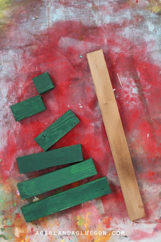 painted wood sticks