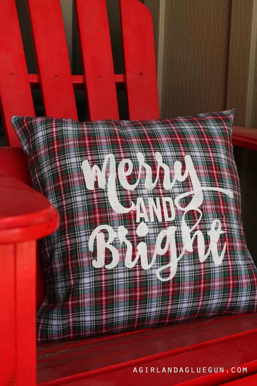 pillow from a flannel shirt