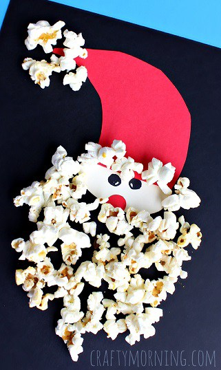 popcorn-santa-claus-christmas-craft-for-kids