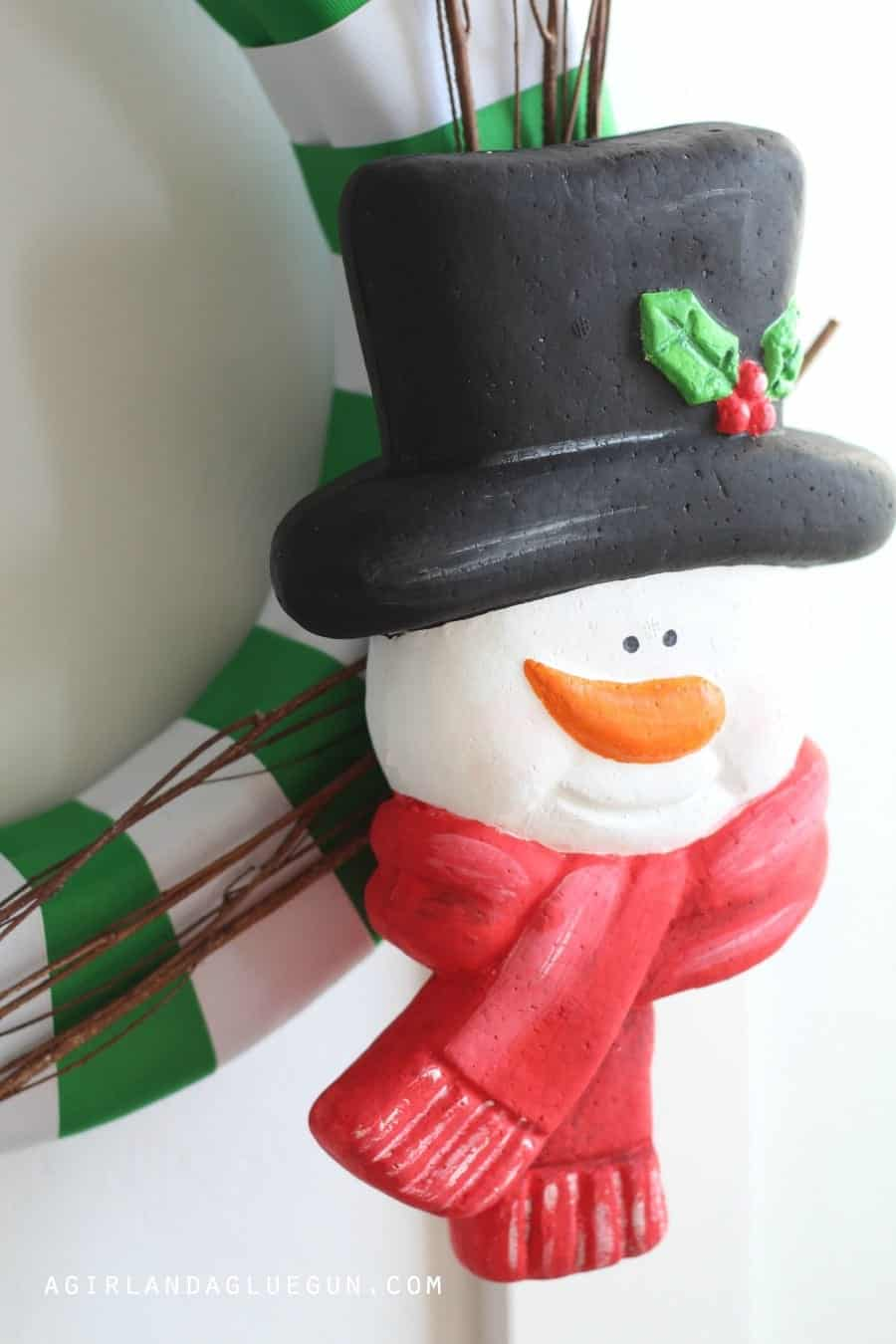 snowman wreath head