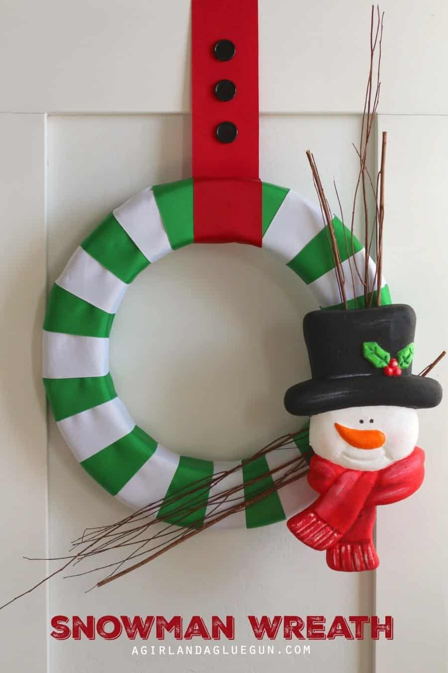 snowman wreath with foam