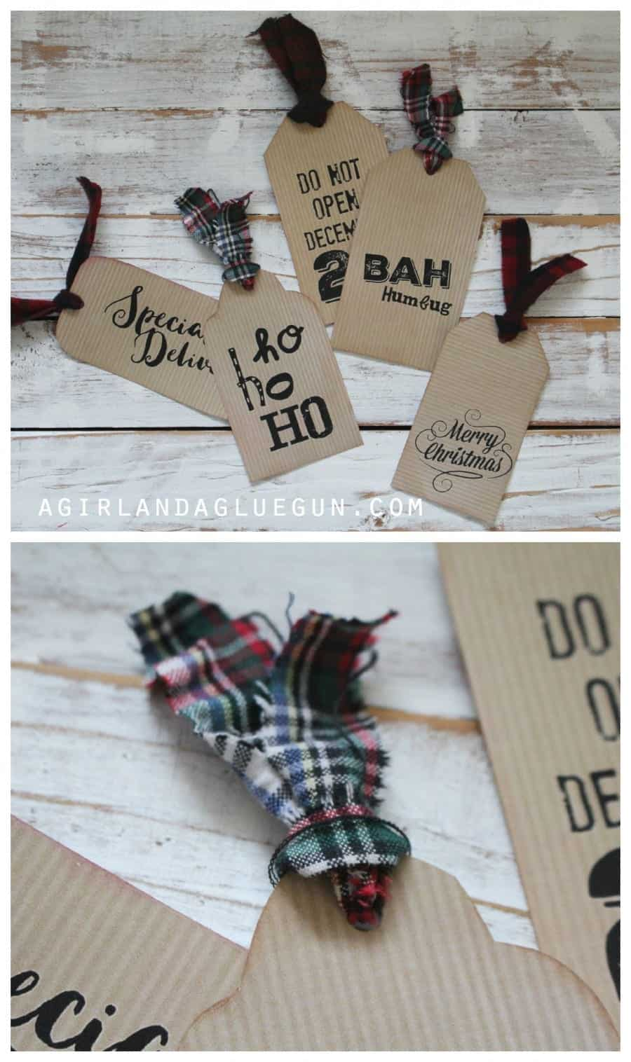 tags with flannel
