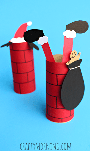 toilet-paper-roll-chimney-santa-claus-craft-for-kids