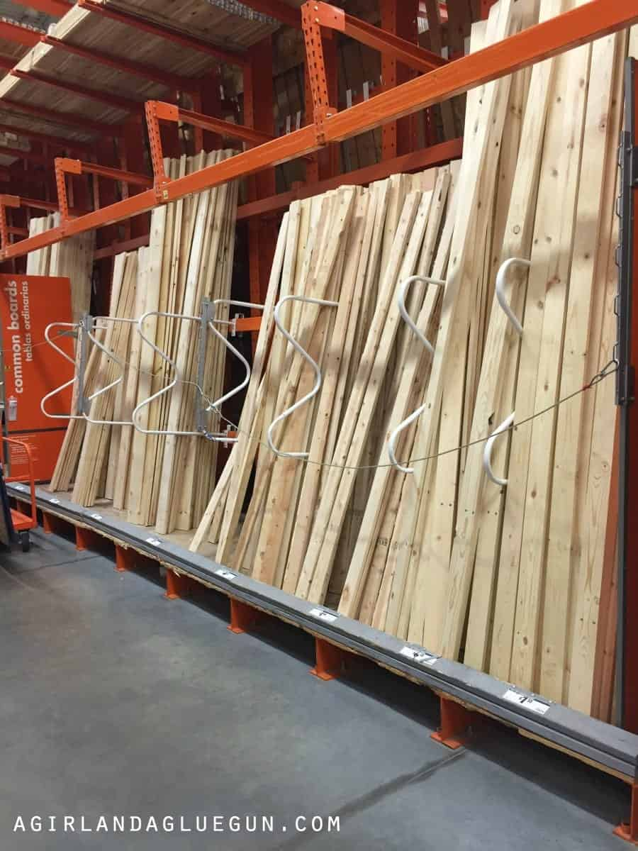 wood at home depot