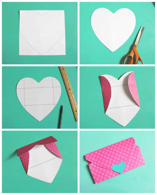 Heart Shaped Envelopes A Girl And A Glue Gun
