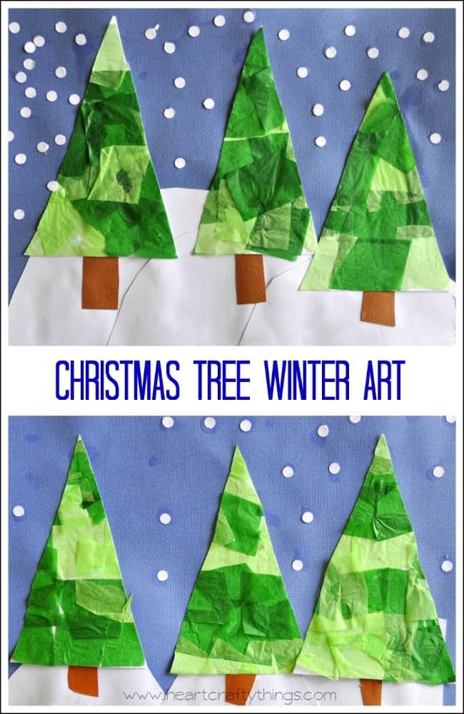 Christmas Tree Winter Art