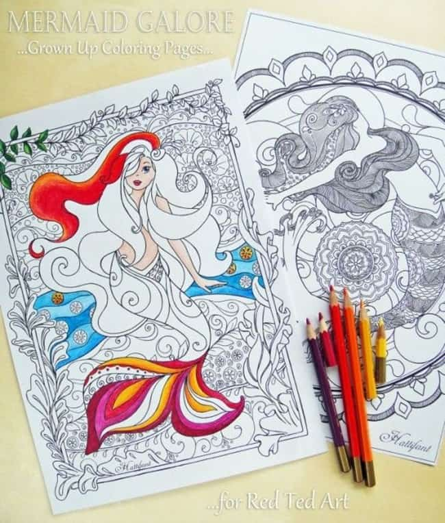 adult-coloring-pages-mermaid