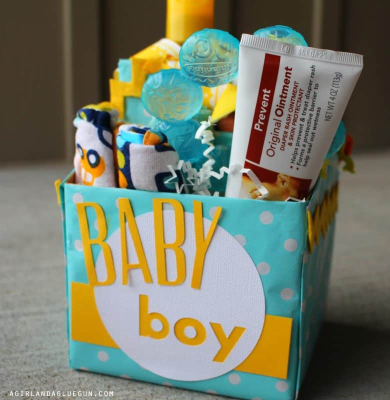 Baby shower gift idea a girl and a glue gun negle