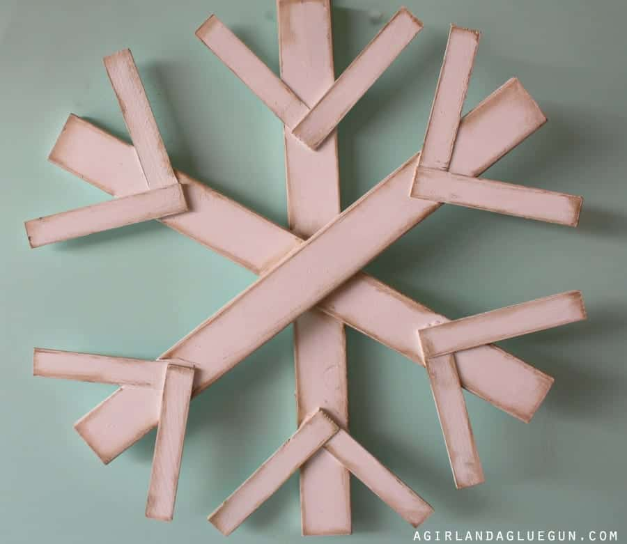 big giant diy snowflake