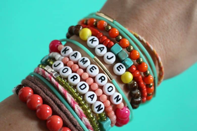 Add in some fun friendship bracelets for a mixed/matched look. bracelets