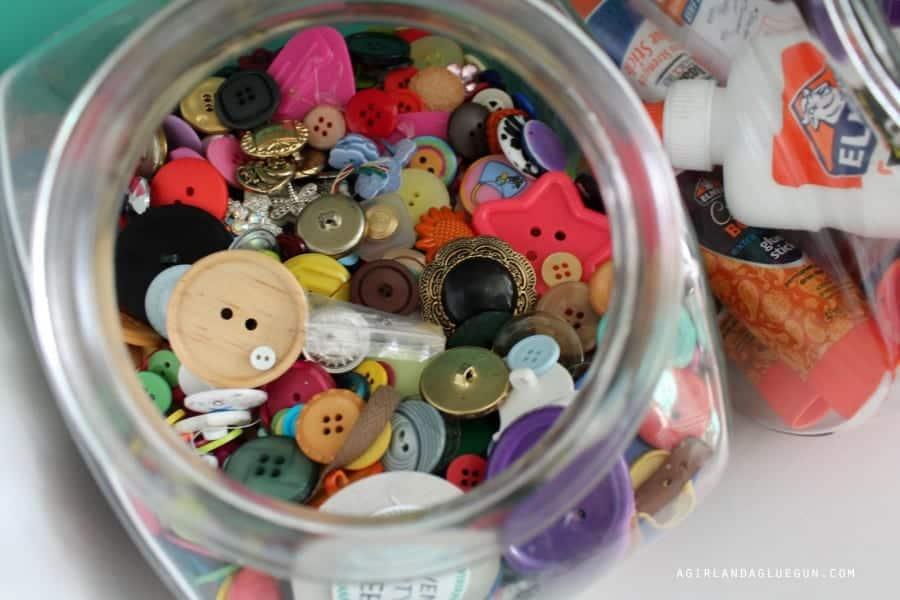 button cookie jar