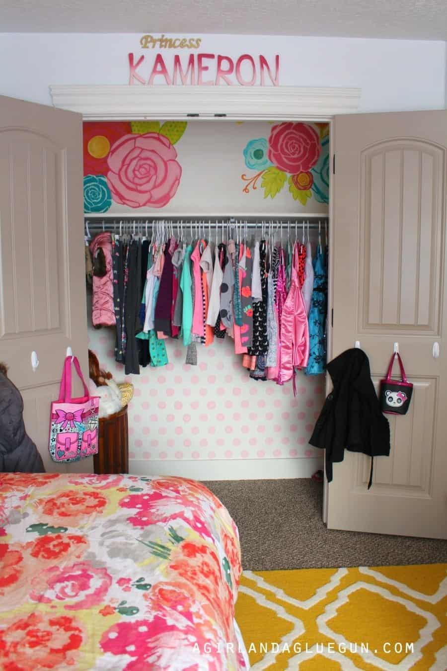 closet sneak peek kids room girls