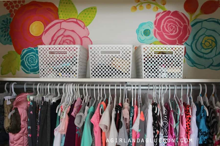 closet wall with flowers
