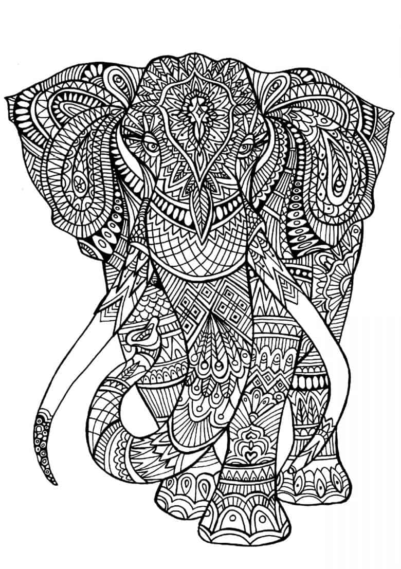 halloween elephant coloring pages - photo#40