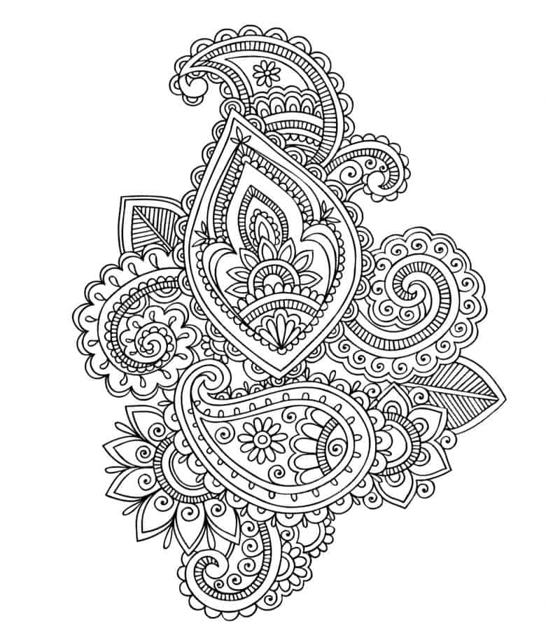 Free Coloring Pages Of Paisley Colo Paisley