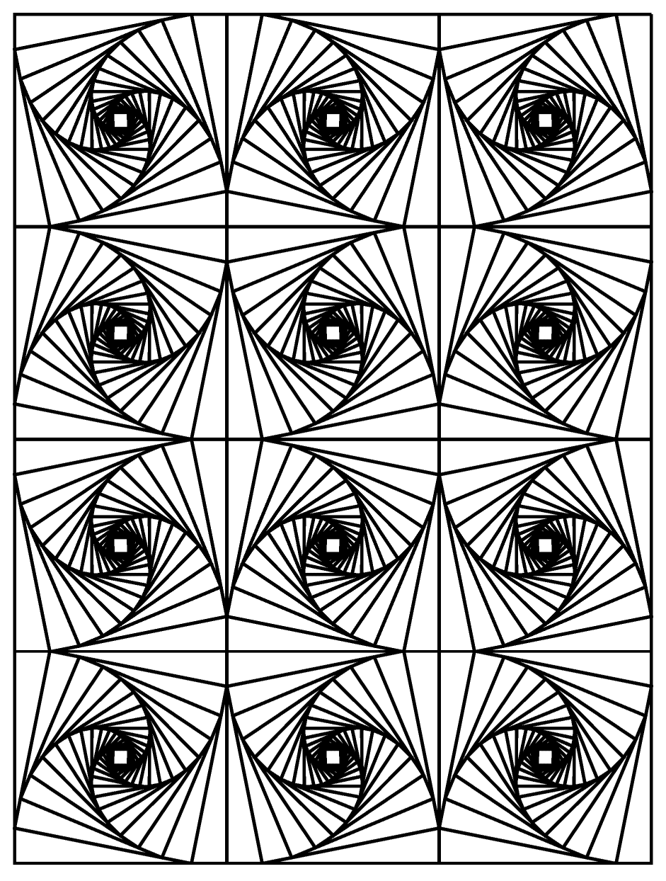 optical illsion coloring pages - photo#2