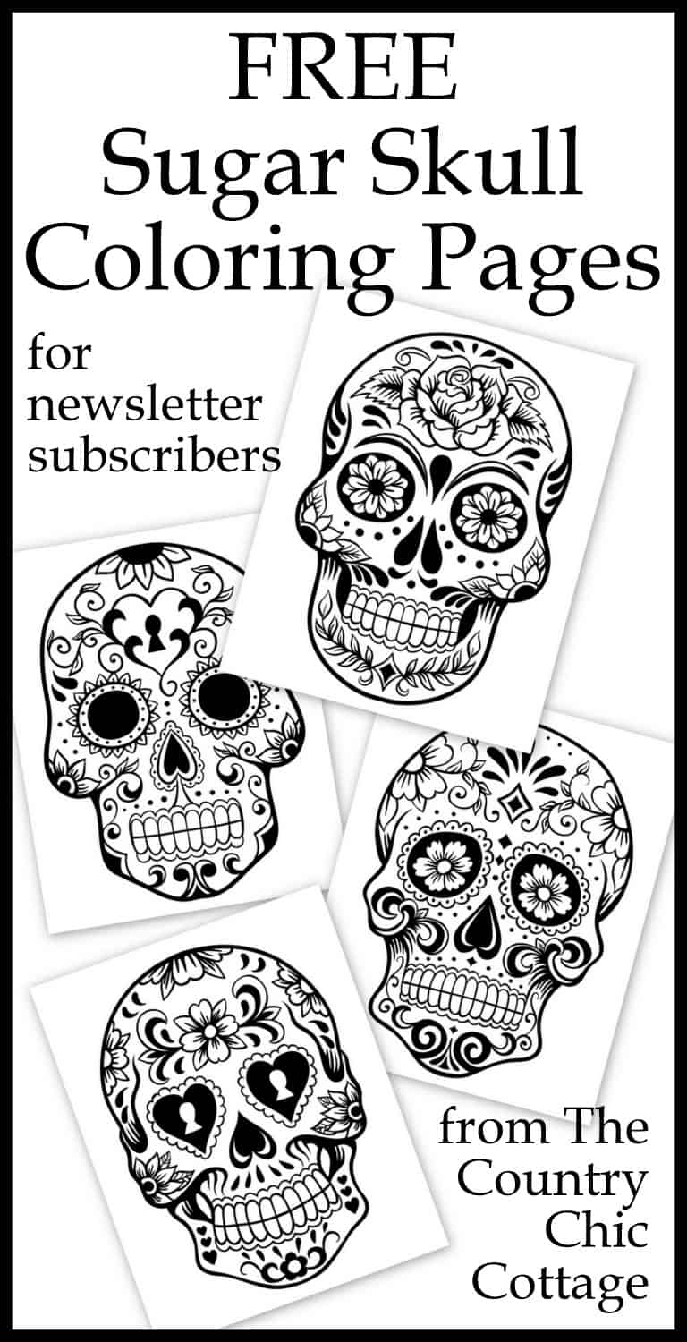 Free coloring pages com printable - Sugar Skulls Coloring Pages Collages