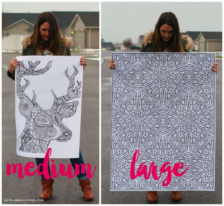 How to print coloring pages HUGE - A girl and a glue gun