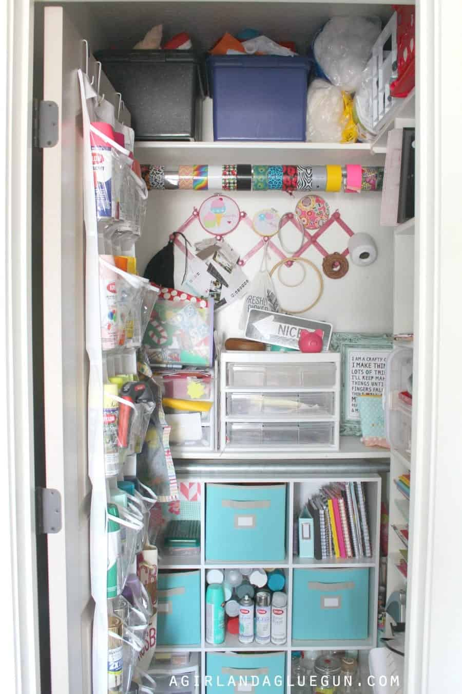 craft room closet storage