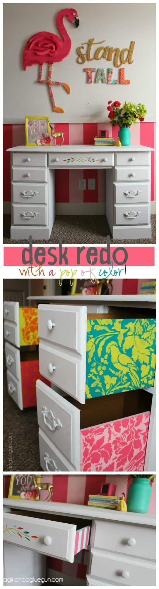 desk-for-little-girls-room-repainted-and-stencil-inside-of-drawers-for-a-pop-of-color--543x2000