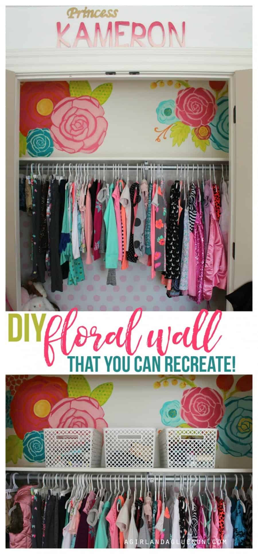 diy floral wall--that you can recreate! so cute from a girl and a glue gun