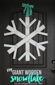 Make a giant wood snowflake