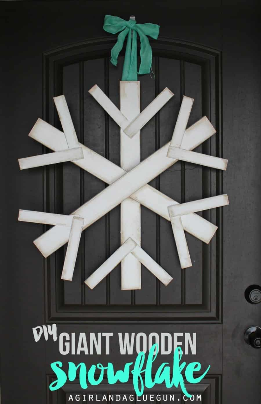 diy giant wooden snowflake great front door