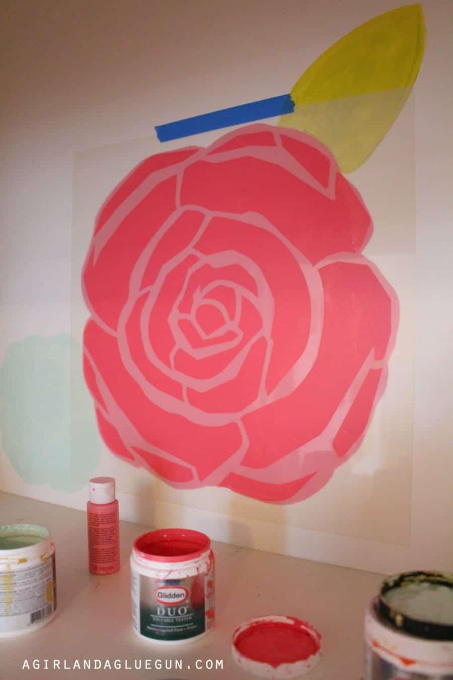 floral diy wall