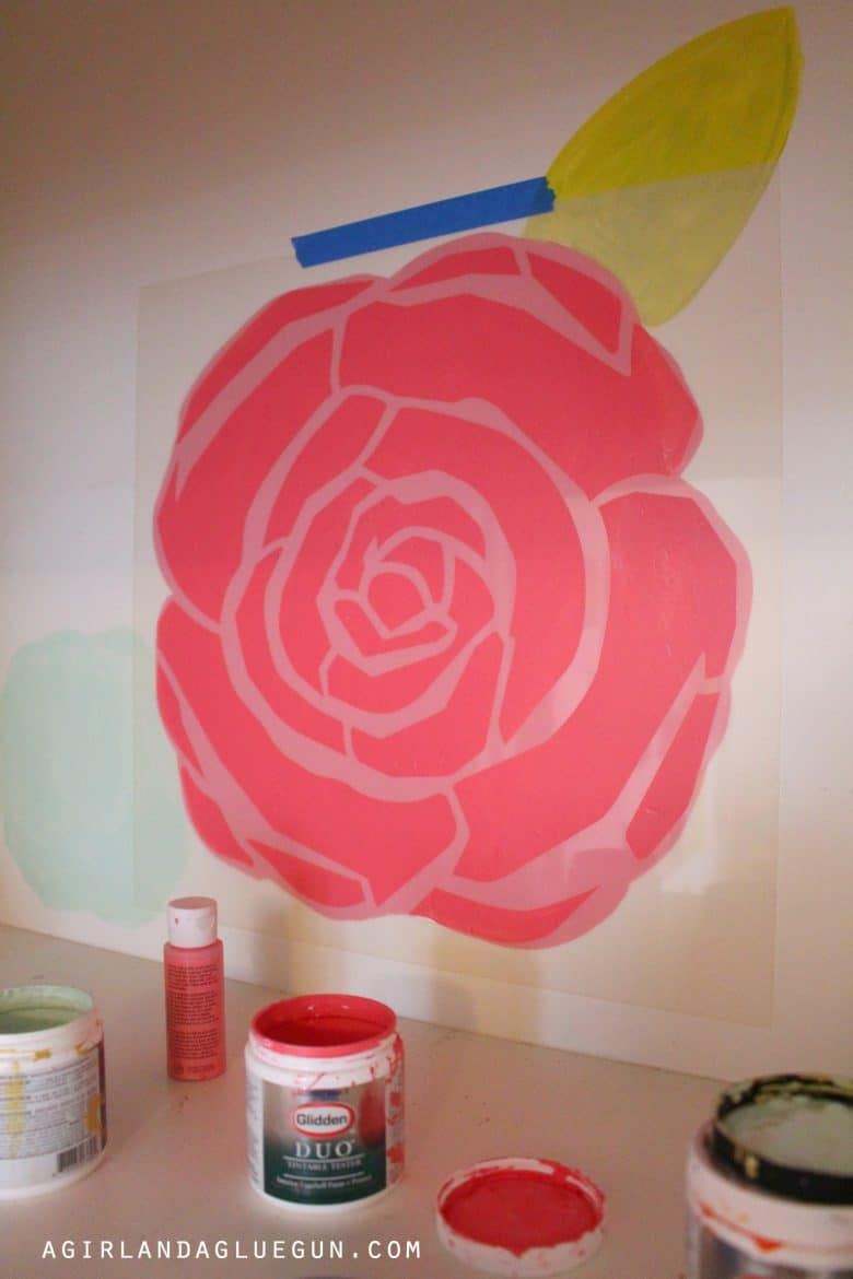 Fun floral wall that you can do at home a girl and a glue gun fun floral wall that you can do at home amipublicfo Images