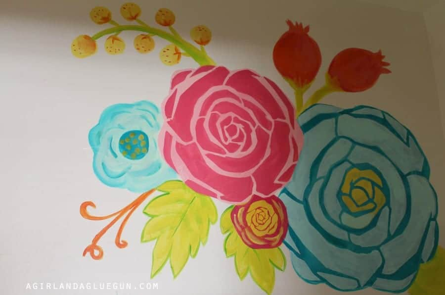 floral wall stencil how to