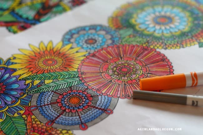giant floral coloring pages