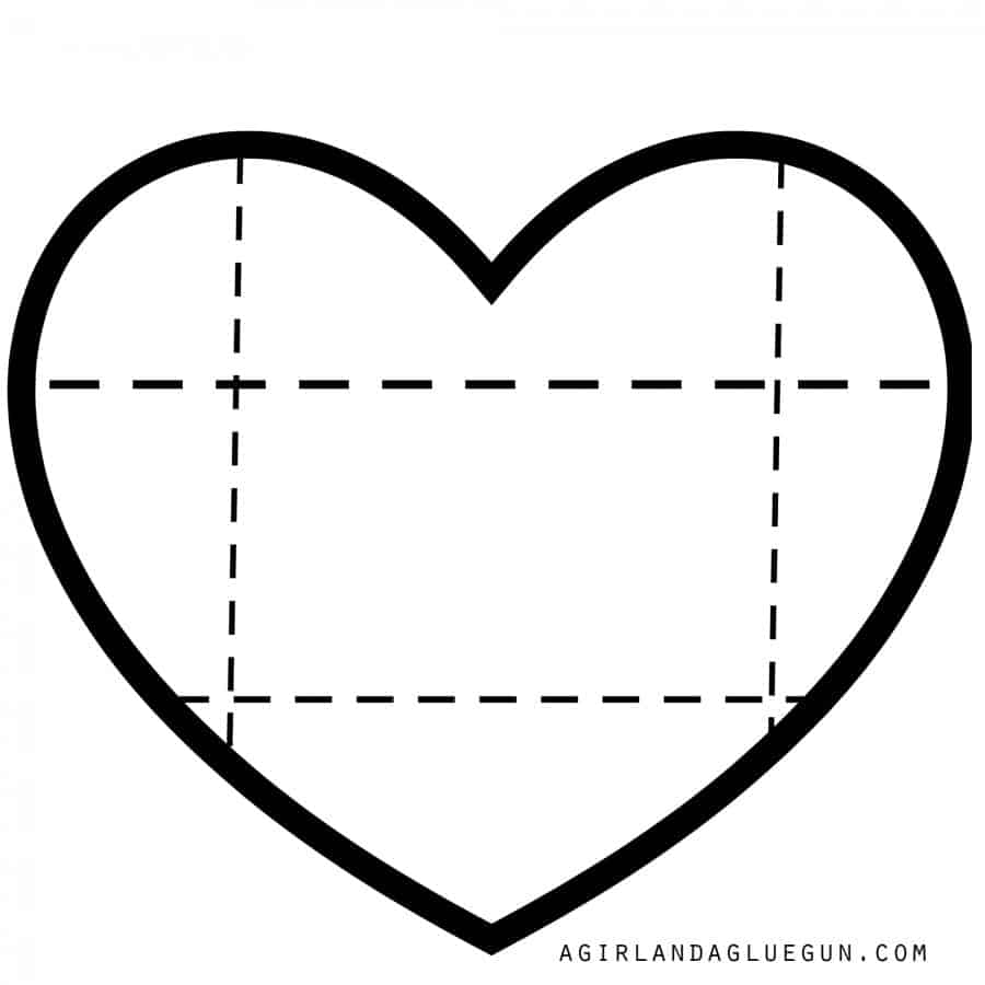heart shaped pattern