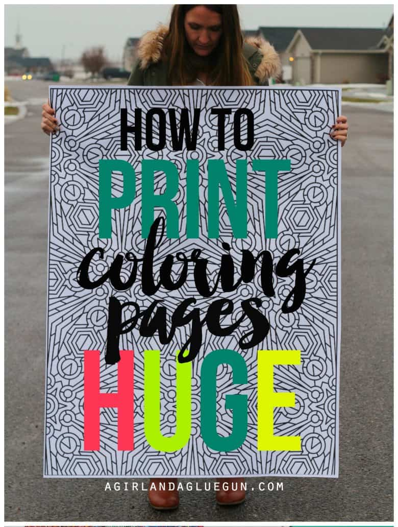 How To Print Coloring Pages HUGE