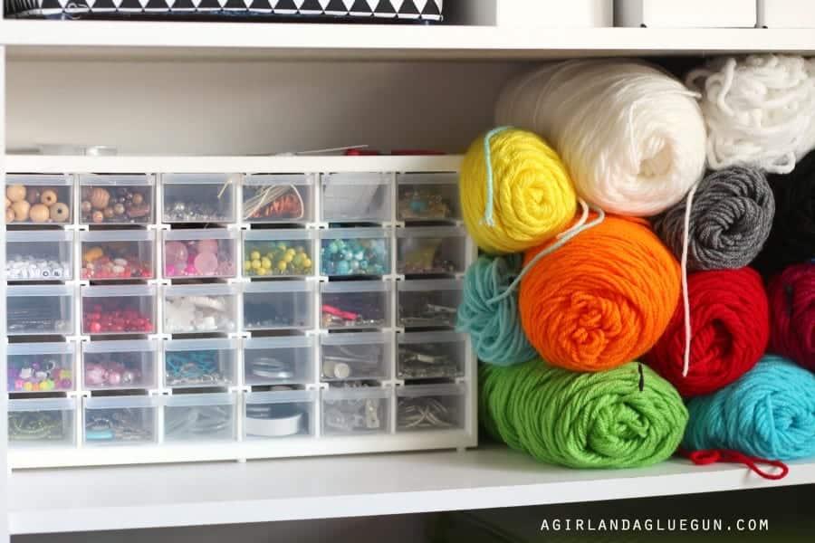 jewelry and yarn