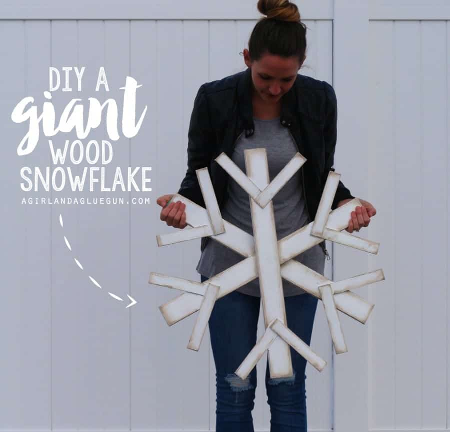 make your own giant wood snowflake! super easy!