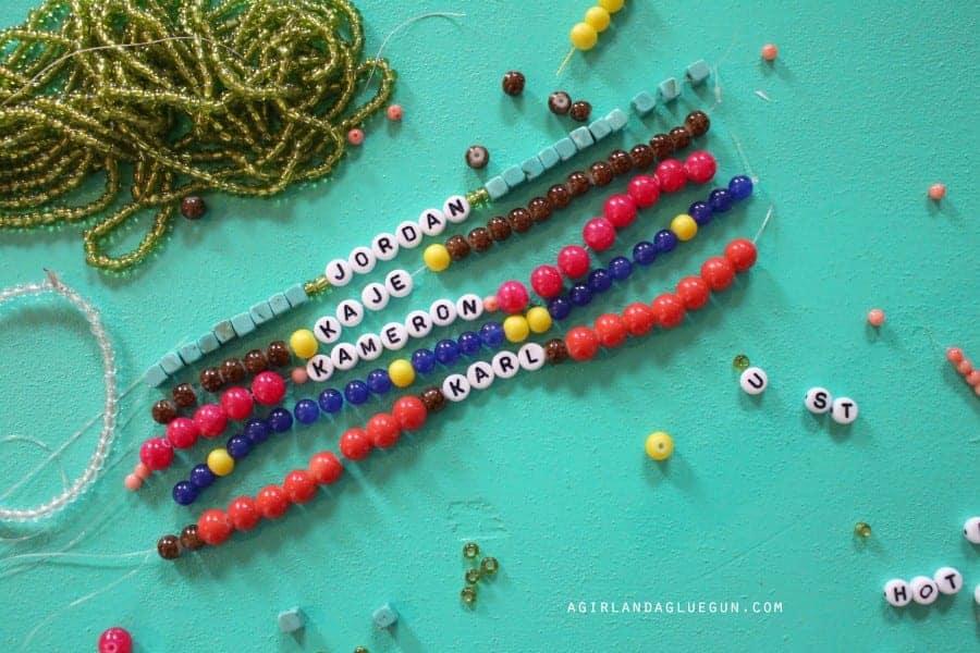 name bracelets