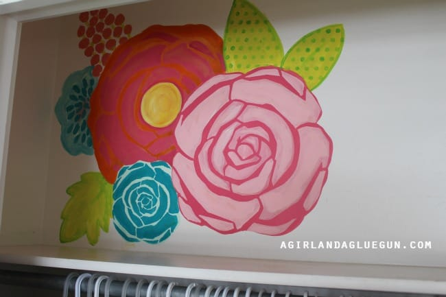 painted floral wall diy