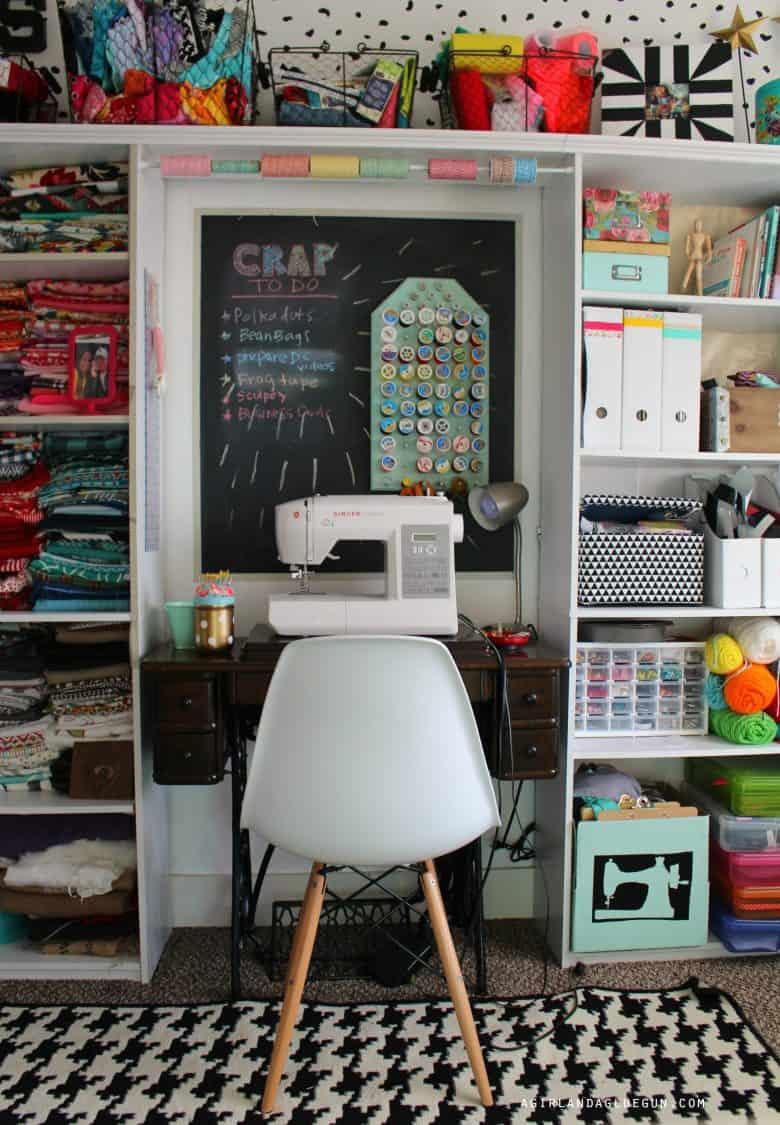 Craft Room Tour A Girl And A Glue Gun