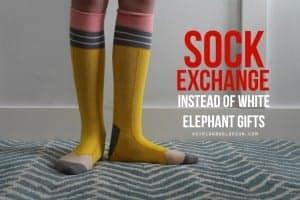 Sock exchange instead of white elephant gifts!