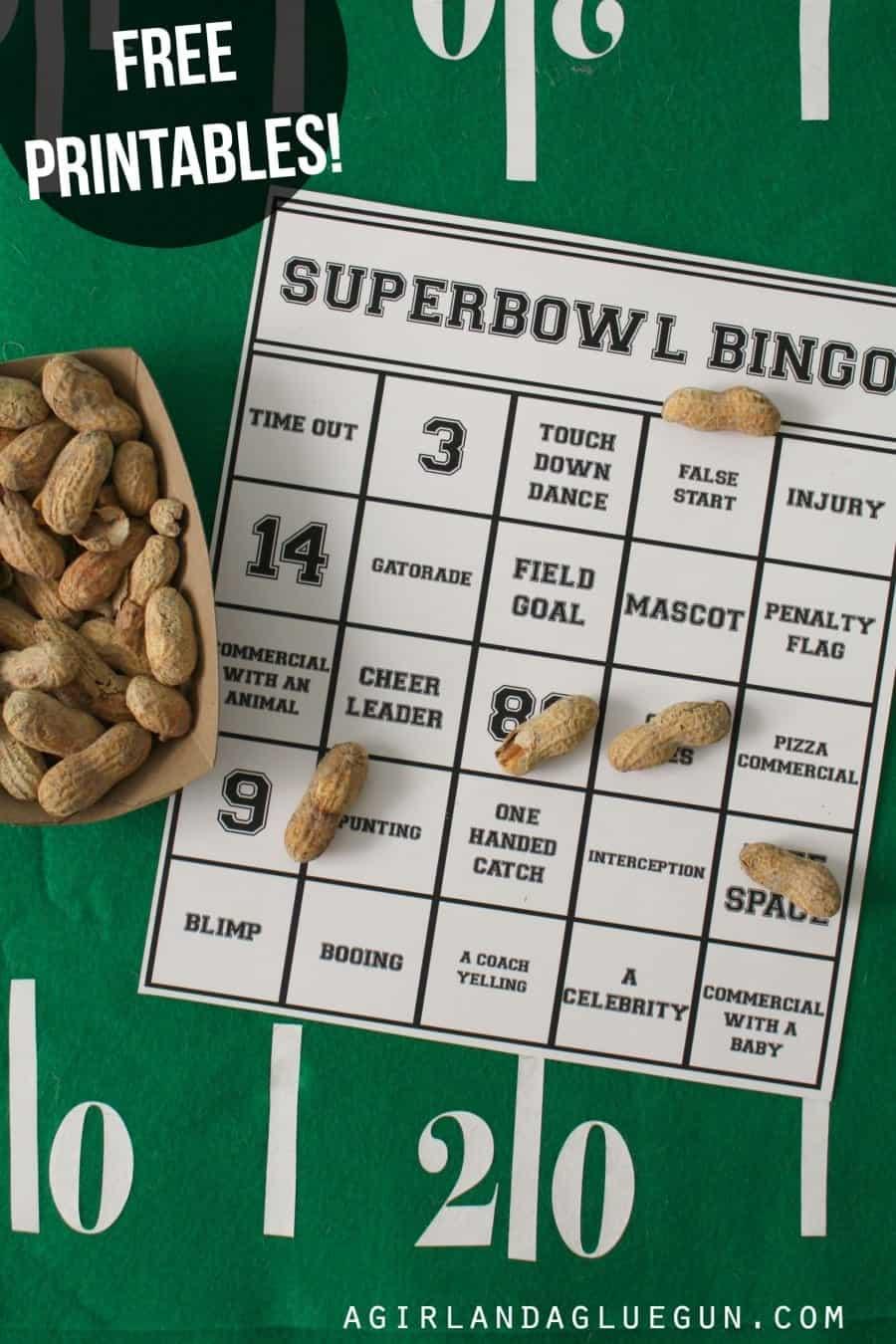 superbowl bingo 15 free printables