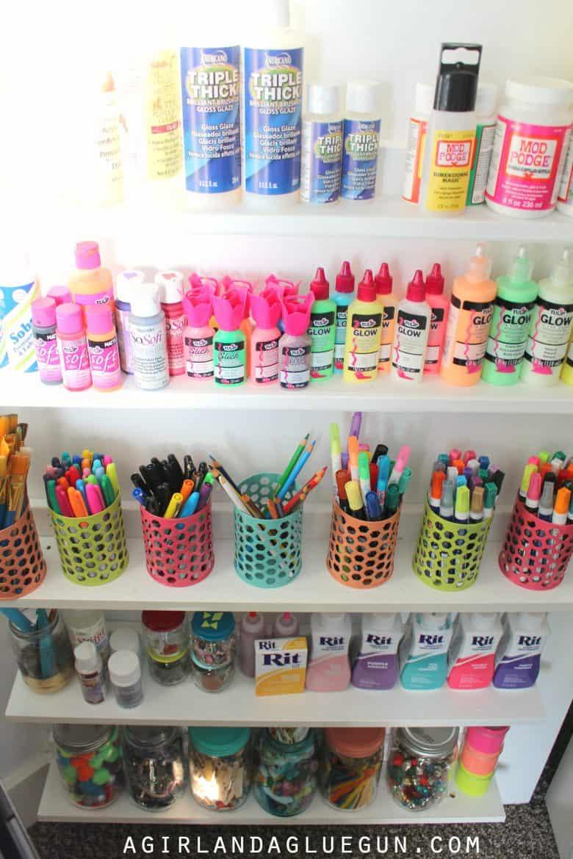 craft room tour! AmandoBlogs comAmandoBlogs com - Honeycomb Shelves ...