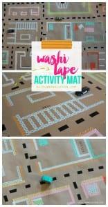 Washi Tape floor mat