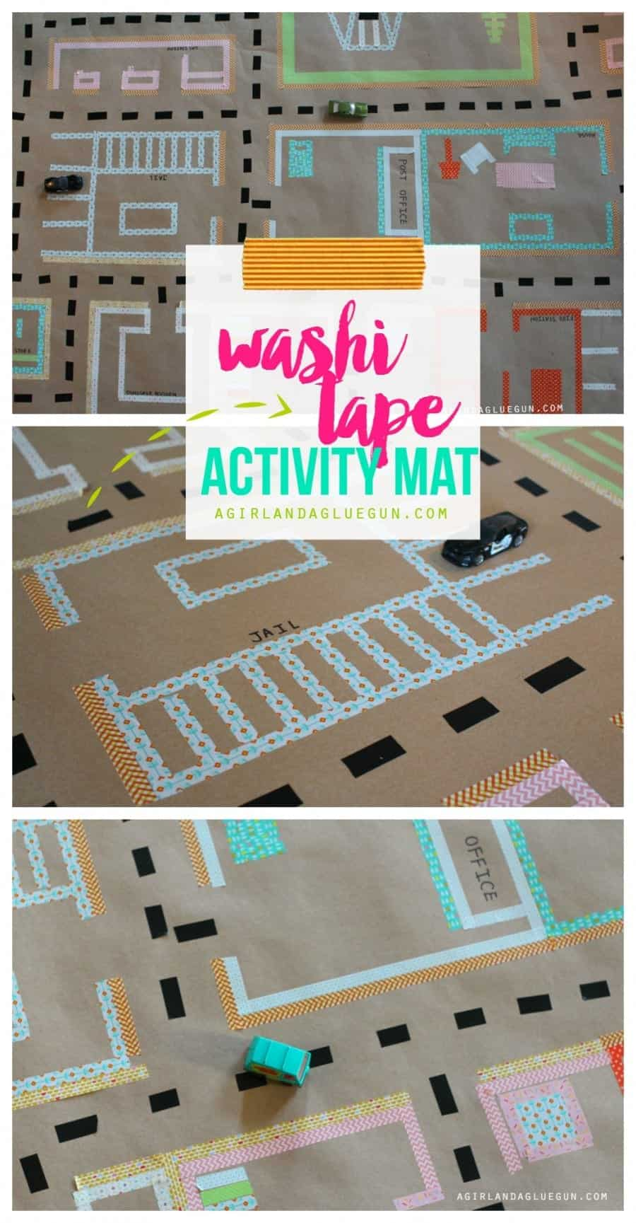 washi tape activity mat for kids